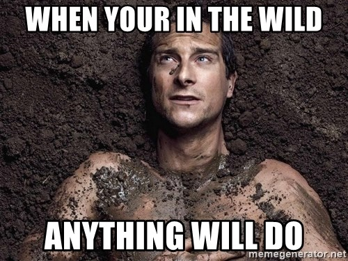 Bear Grylls - When your in the wild anything will do