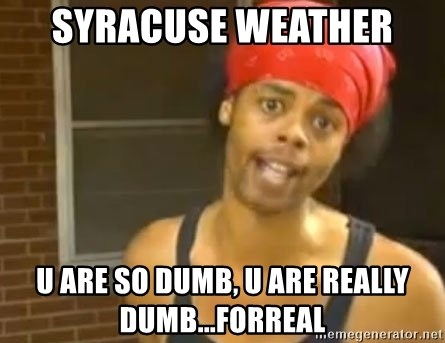 Antoine Dodson - syracuse weather  u are so dumb, u are really dumb...forreal