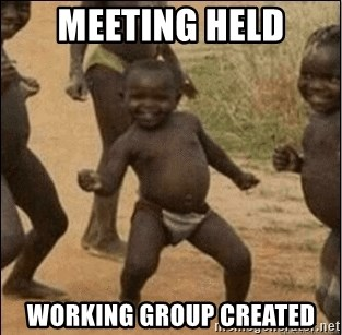 Third World Success - meeting held working group created