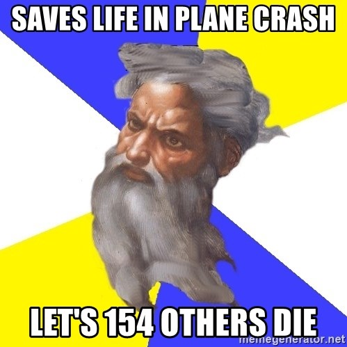 Advice God - saves life in plane crash let's 154 others die