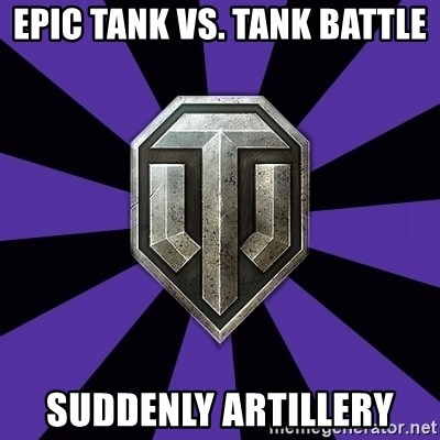 World of Tanks - EPIC TANK vs. tank battle suddenly artillery