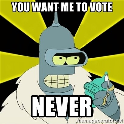 Bender IMHO - you want me to vote never