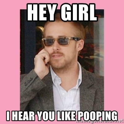 Hey Girl - hey girl i hear you like pooping