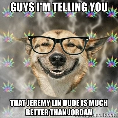 Stoner Nerd - guys i'm telling you that jeremy lin dude is much better than jordan