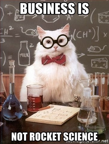 Chemistry Cat - business is not rocket science