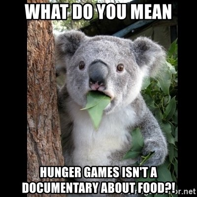 Koala can't believe it - what do you mean hunger games isn't a documentary about food?!