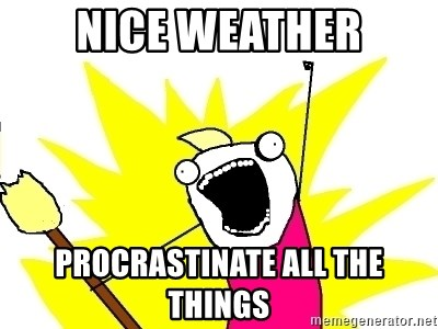 X ALL THE THINGS - Nice Weather Procrastinate All the things