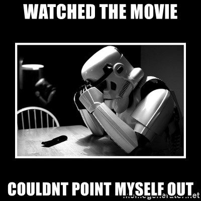 Sad Trooper - watched the movie couldnt point myself out