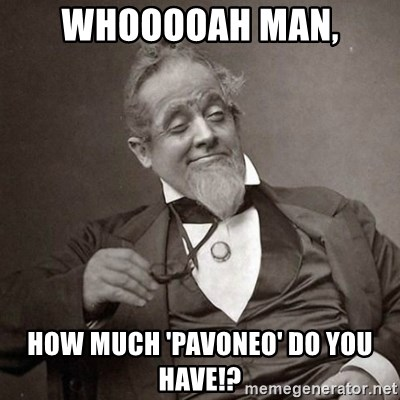 1889 [10] guy - whooooah man, how much 'Pavoneo' do you have!?