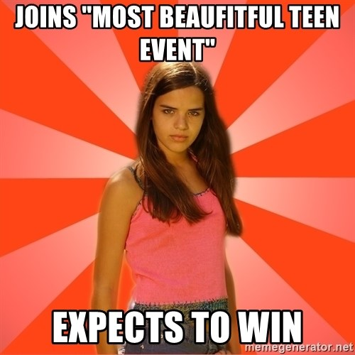 "Jealous Girl - joins ""most beaufitful teen event"" expects to win"