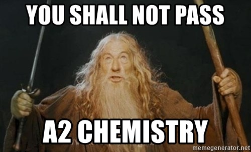You shall not pass - You shall not pass a2 chemistry