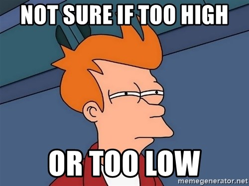 Futurama Fry - not sure if too high or too low