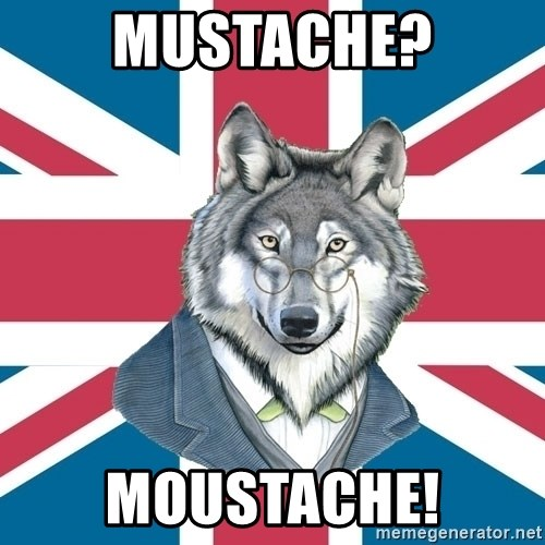 Sir Courage Wolf Esquire - Mustache? Moustache!