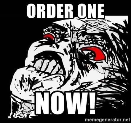 Rage Face - Order one Now!