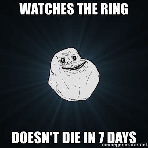 Forever Alone - Watches the ring doesn't die in 7 days