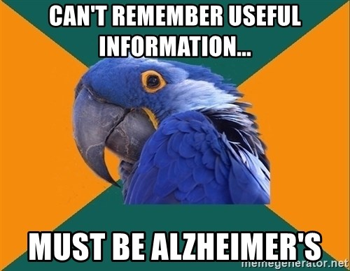 Paranoid Parrot - Can't remember useful information... Must be Alzheimer's