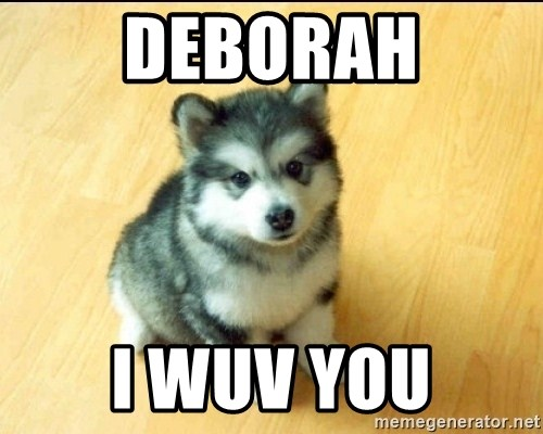 Baby Courage Wolf - Deborah I Wuv You