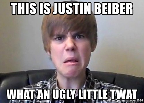 Justin Bieber 213 - This is justin beiber What an ugly little twat