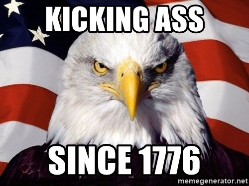 American Pride Eagle - Kicking ass since 1776