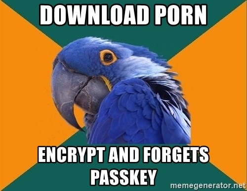 Paranoid Parrot - download porn encrypt and forgets passkey