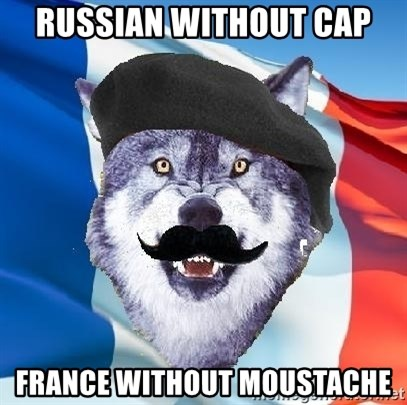 Monsieur Le Courage Wolf - Russian without cap France without moustache