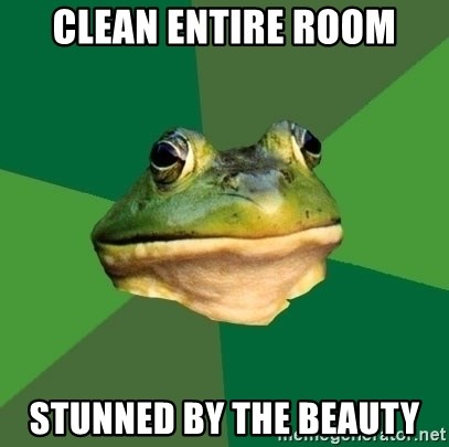 Foul Bachelor Frog - clean entire room stunned by the beauty