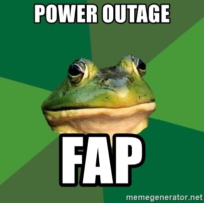 Foul Bachelor Frog - power outage fap
