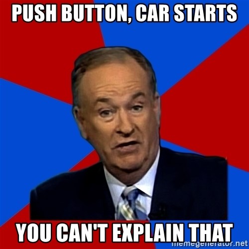Bill O'Reilly Proves God - Push Button, Car starts You can't Explain that