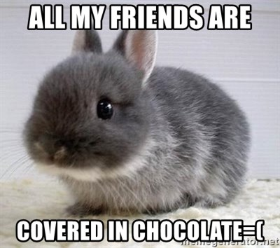 ADHD Bunny - All my friends are covered in chocolate=(