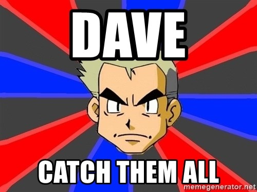 Professor Oak - dave catch them all