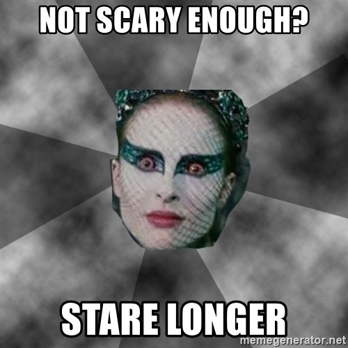 Black Swan Eyes - not scary enough? stare longer