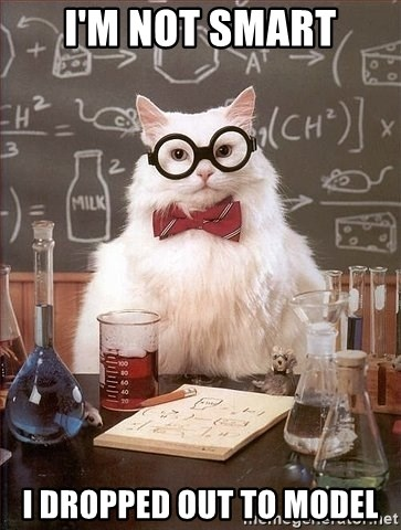 Chemistry Cat - i'm not smart i dropped out to model