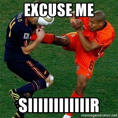 Netherlands - Excuse me siiiiiiiiiiiir