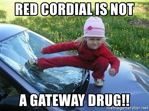 Angry Karate Girl - Red cordial is not a Gateway Drug!!