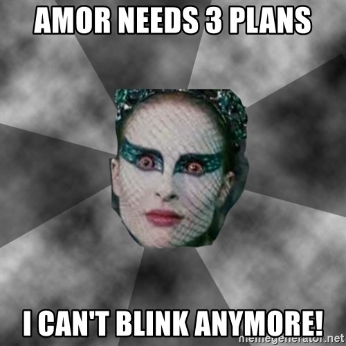 Black Swan Eyes - Amor needs 3 plans I can't blink anymore!