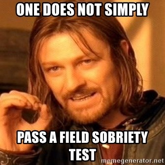 One Does Not Simply - one does not simply pass a field sobriety test