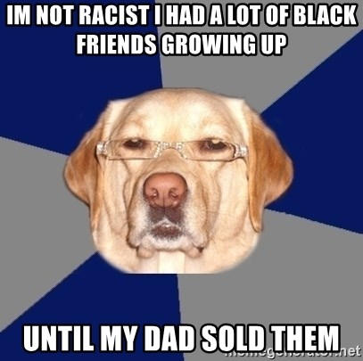Racist Dawg - Im Not Racist I had a lot of black friends growing up Until my dad sold them