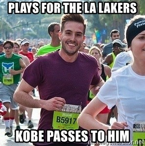 Ridiculously photogenic guy (Zeddie) - plays for the la lakers kobe passes to him