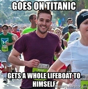 Ridiculously photogenic guy (Zeddie) - goes on titanic gets a whole lifeboat to himself