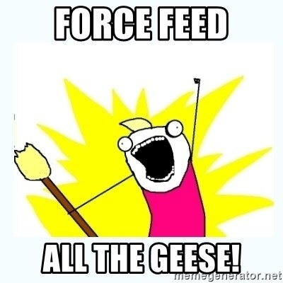 All the things - FORCE FEED ALL THE GEESE!