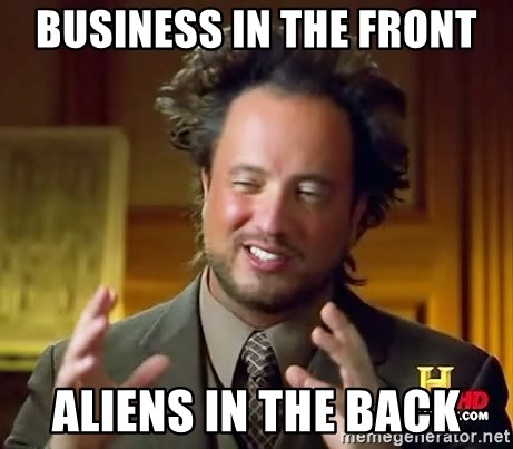 Giorgio A Tsoukalos Hair - Business in the front aliens in the back