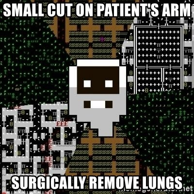 Urist McDorfy - SMALL CUT ON PATIENT'S ARM SURGICALLY REMOVE LUNGS