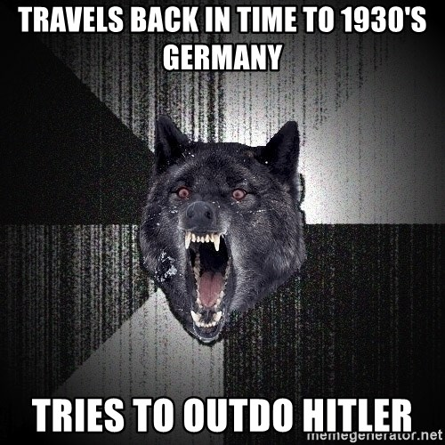 Insanity Wolf - travels back in time to 1930's germany tries to outdo hitler