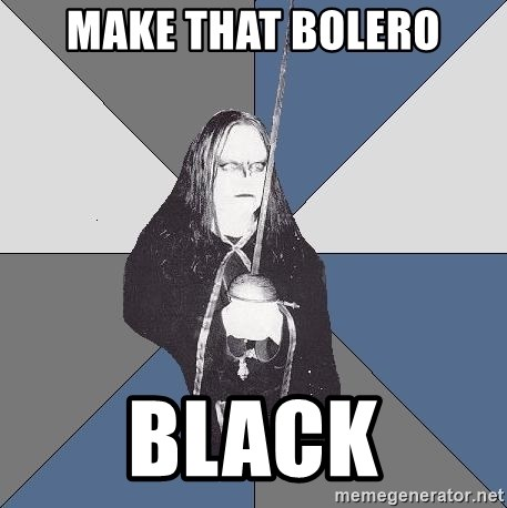 Black Metal Sword Kid - Make that bolero Black