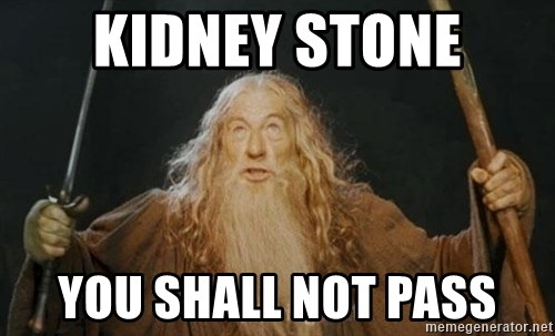 You shall not pass - kidney stone you shall not pass