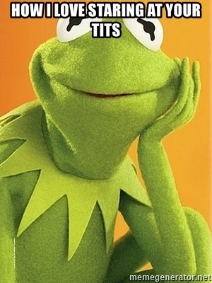 Kermit the frog - How I love staring at your tits