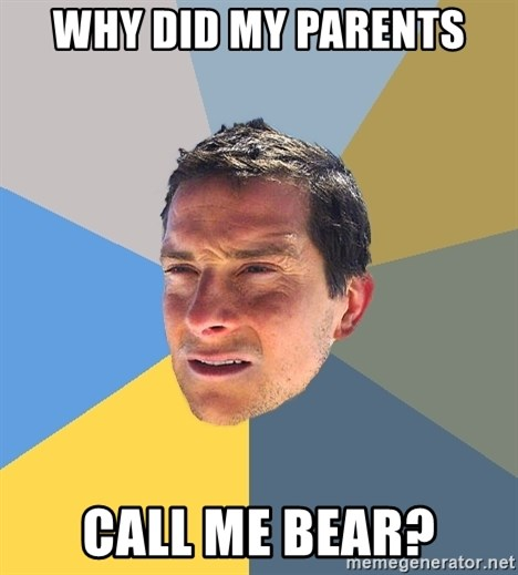 Bear Grylls - Why did my parents call me bear?