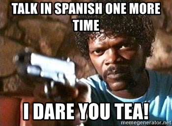 Pulp Fiction - Talk in Spanish one more time I DARE YOU TEA!