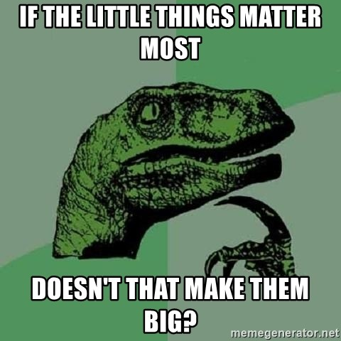 Philosoraptor - If the little things matter most doesn't that make them big?
