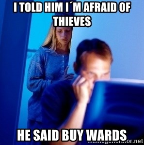 Internet Husband - i told him i´m afraid of thieves  he said buy wards